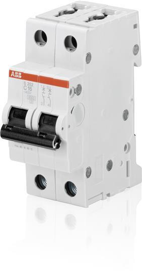 2CDS252001R0165 Автоматический выключатель ABB, S202 2P 16А (B) 6 kA