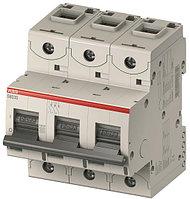 2CCS883001R0801 Автоматический выключатель ABB, S803C-D80 3P 80А (D) I cn=15 кА I cu=25 кА