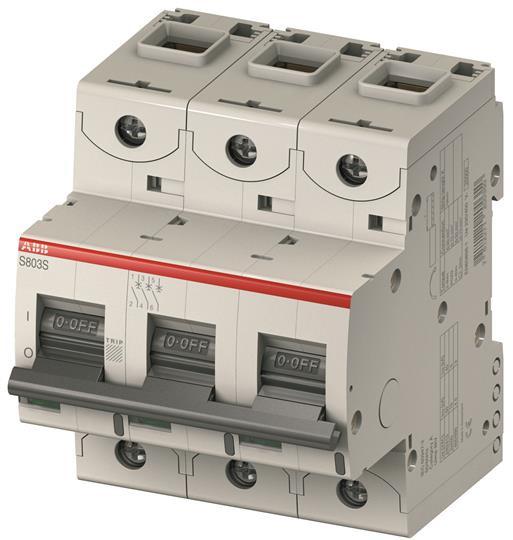 2CCS884001R0634 Автоматический выключатель ABB,S804C-C63  4P 63А (С) I cn=15 кА I cu=25 кА