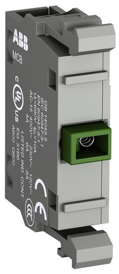 1SFA619100R1112 Кнопка с подсветкой CP1-11G-10 зеленая 24В AC/DC с плоской клавишей без фиксации 1НО