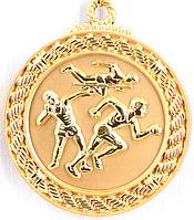 """Медаль рельефная """"ЛЕГКАЯ АТЛЕТИКА"""" (золото)"""