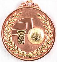 """Медаль рельефная """"БАСКЕТБОЛ"""" (бронза)"""