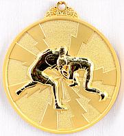 """Медаль рельефная """"БОРЬБА"""" (золото)"""