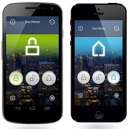 """Для управления сигнализацией GSM """"MAXKIN MK-X1"""" с помощью смартфона необходимо установить приложение для iOS или Android"""