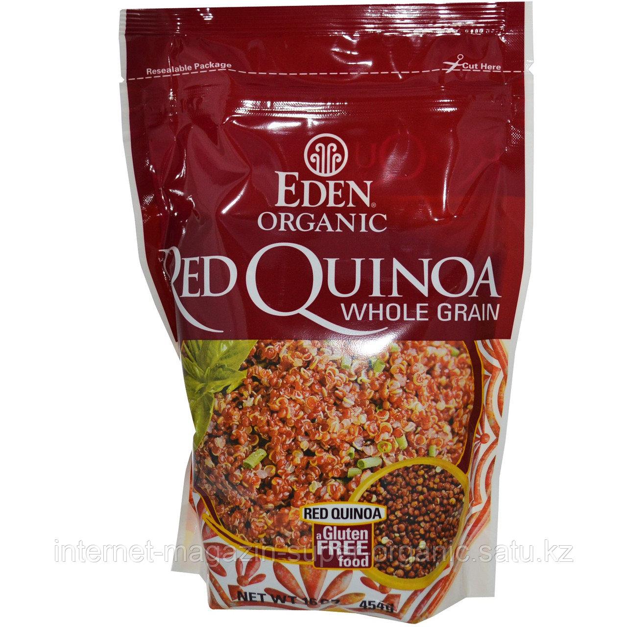 Квиноа (кинва, киноа, лебеда) красная органическая, в зернах (Red Quinoa, whole grain), 454 г, Eden Foods