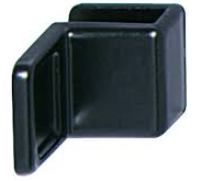 Ручка для стеклянных дверей, цинковое литье,28х20 мм, черная, матовая, фото 1