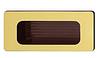 Мебельная ручка., 38х84 мм, пластик, цвет зол., мат., внутри кор.отв.д/монт., 30х70 мм