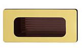 Мебельная ручка., 38х84 мм, пластик, цвет зол., мат., внутри кор.отв.д/монт., 30х70 мм, фото 1