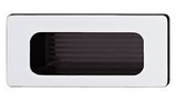 Мебельная ручка., 38х84 мм, пластик, цвет хром.,мат.,внутри кор. отв. д/монт., 30х70 мм, фото 1