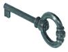 Декоративный ключ с бородкой, антик черный,40 мм,  цинк