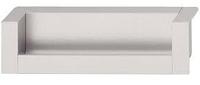 Ручка-раковина, алюминий, 110х31, серебристая, фото 1