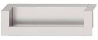 Ручка-раковина, алюминий, 174х31, серебристая, фото 1
