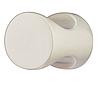 Мебельная ручка-кнопка, цинковое литье, 20х25 мм, никель/мат