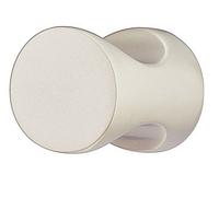 Мебельная ручка-кнопка, цинковое литье, 20х25 мм, никель/мат, фото 1