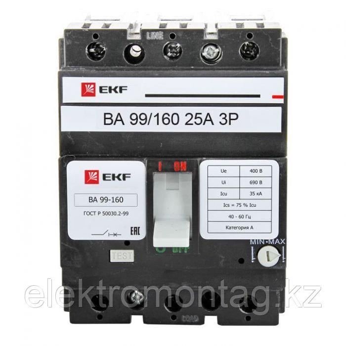 Автоматический выключатель ВА-99 160/25А 3P 35кА EKF PROxima