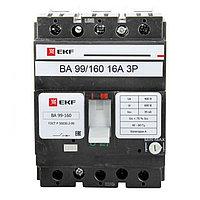 Автоматический выключатель ВА-99 160/16А 3P 35кА EKF PROxima