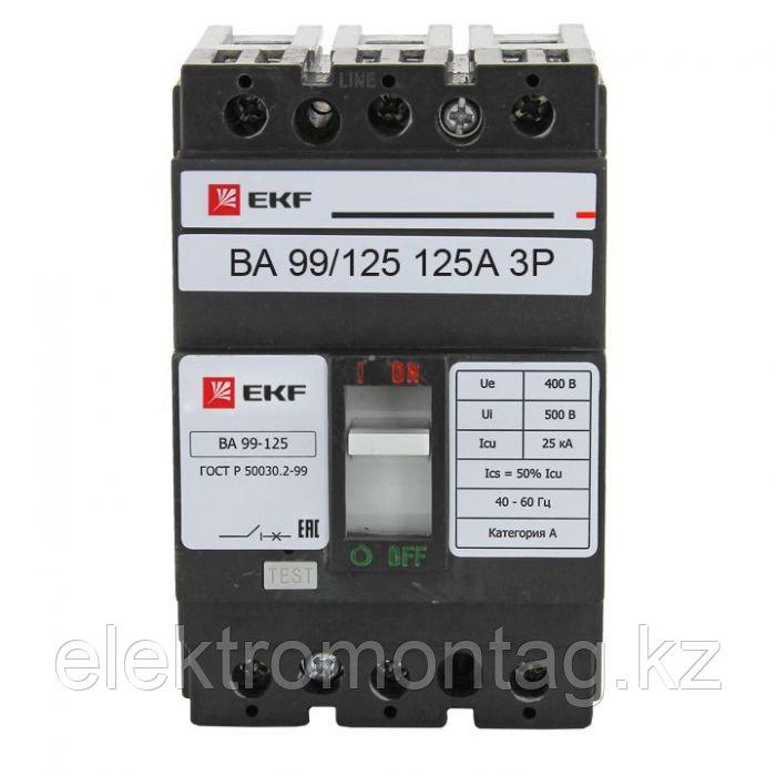Автоматический выключатель ВА-99 125/125А 3P 25кА EKF PROxima