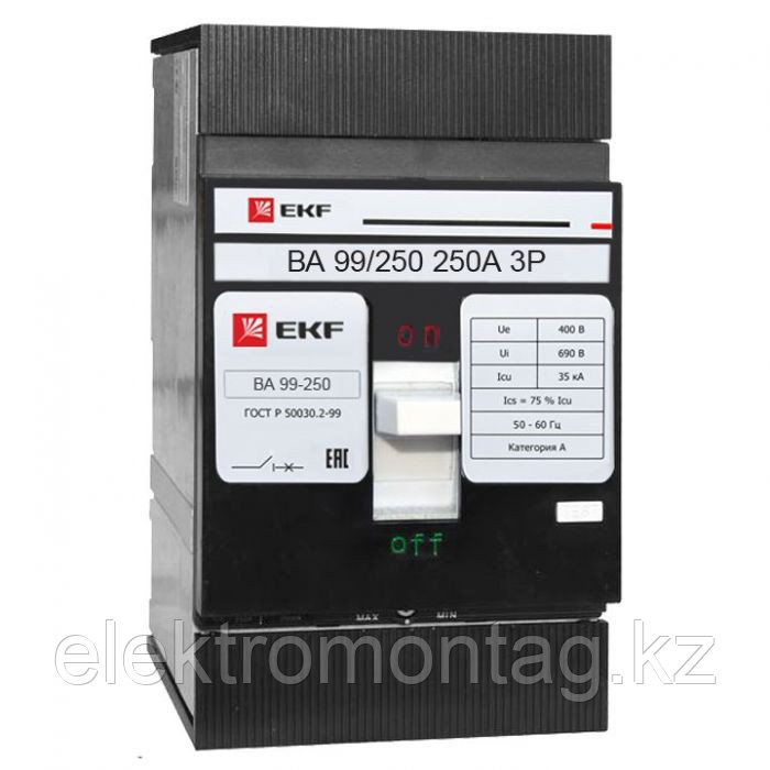 Автоматический выключатель ВА-99 250/250А 3P 35кА EKF PROxima