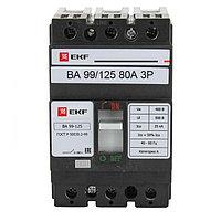 Автоматический выключатель ВА-99 125/80А 3P 25кА EKF PROxima