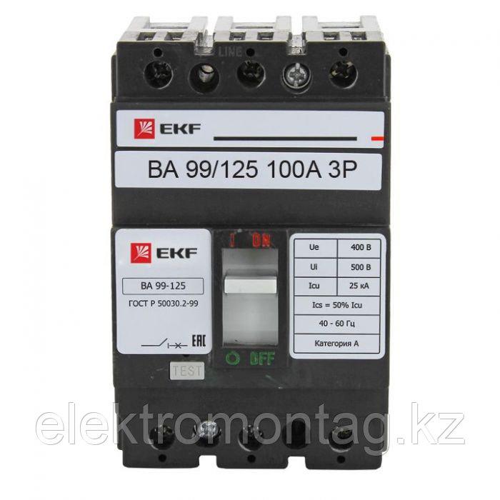 Автоматический выключатель ВА-99 125/100А 3P 25кА EKF PROxima