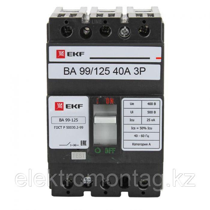 Автоматический выключатель ВА-99 125/40А 3P 25кА EKF PROxima