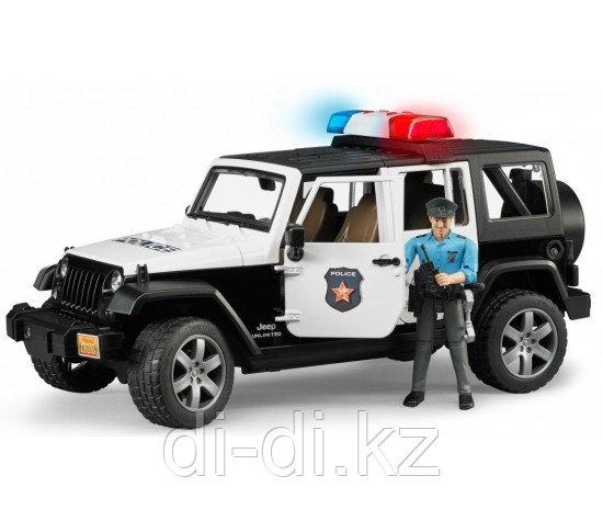 Игрушка Bruder Внедорожник Jeep Wrangler Unlimited Rubicon Полиция с фигуркой