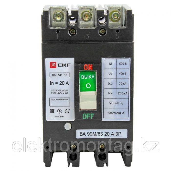ВА-99М 63/20А 3P 20кА EKF Basic