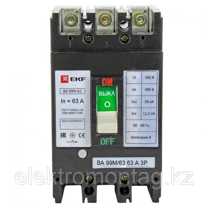 ВА-99М 63/63А 3P 20кА EKF Basic