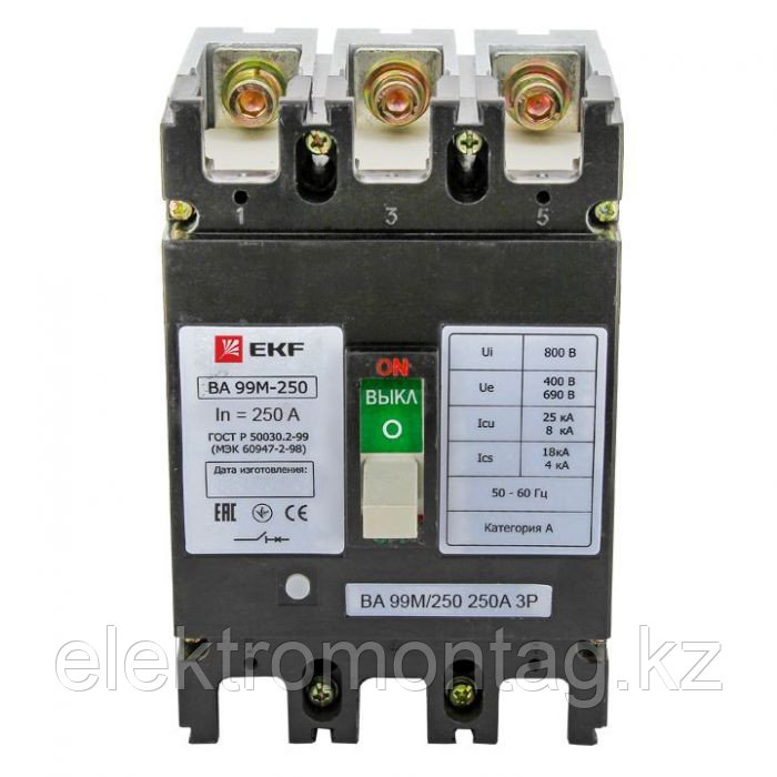 ВА-99М 250/250А 3P 25кА EKF Basic