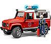 Игрушка Bruder Внедорожник Land Rover Defender Station Wagon - Пожарная с фигуркой