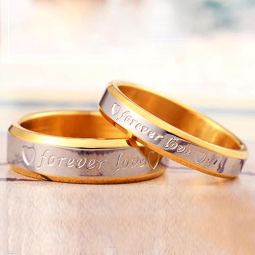 Парные кольца с позолотой Forever Love - фото 1