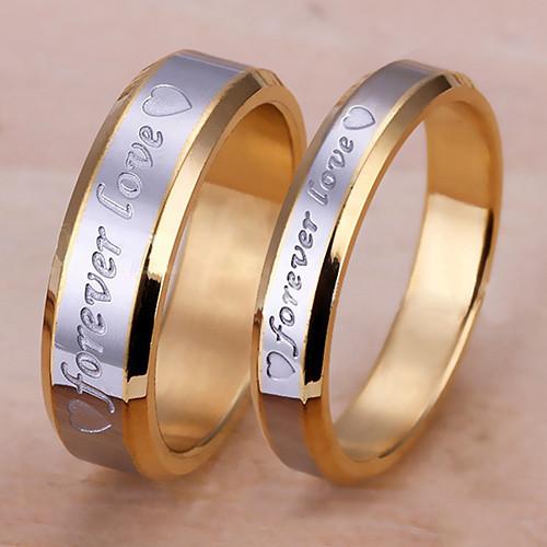 Парные кольца с позолотой Forever Love - фото 3