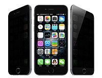 Противоударное защитное стекло Full Privacy на Iphone 6/6S (чёрное)
