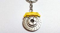 Брелок Brembo Диск (желтый)