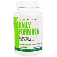 Ежедневная формула.Комплекс мультивитаминов и минералов (без йода), 100 таблеток. Universal Nutrition, фото 1