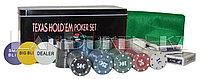 Набор для покера TEXAS HOLD'EM 200 фишек с номиналом