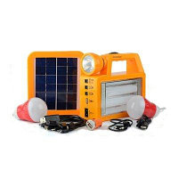Фонарь с подзарядкой от солнечной батареи, прикуривателя, сети 220В, фото 1