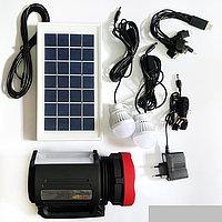Фонарь с подзарядкой от солнечной батареи, сети 220В, фото 1