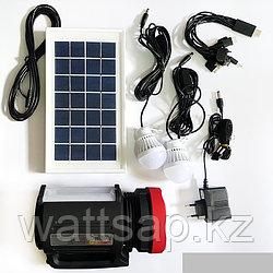 Фонарь с подзарядкой от солнечной батареи, сети 220В
