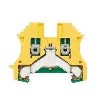 1010000000 Клемма WPE 2,5 Клеммы PE, Винтовое соединение, 2.5 mm², 300 A (2,5 мм²), зеленый/желтый