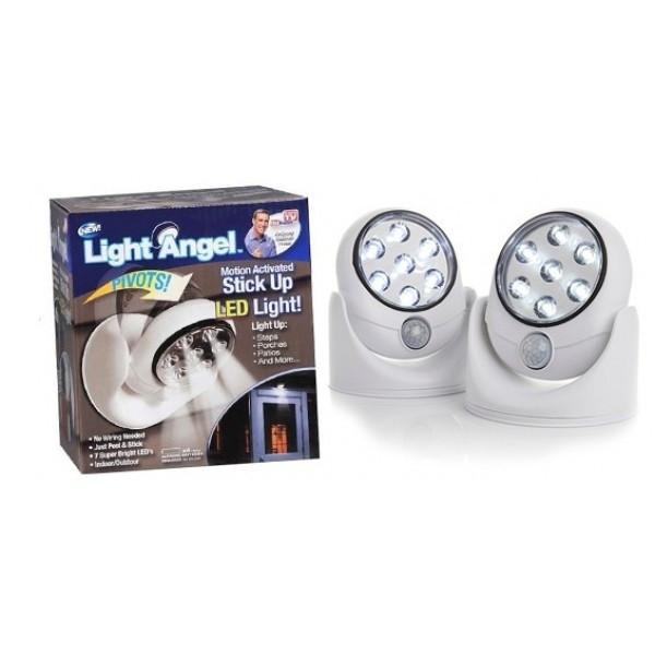 Лампа светильник с датчиком движения и датчиком света Light Angel
