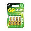 Батарейка GP, Super Alkaline, LR06, AA, 4 шт/упак