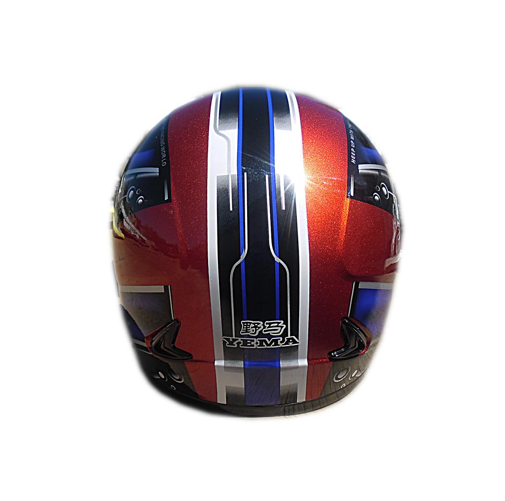 Мотошлем YM-802 красный (L)