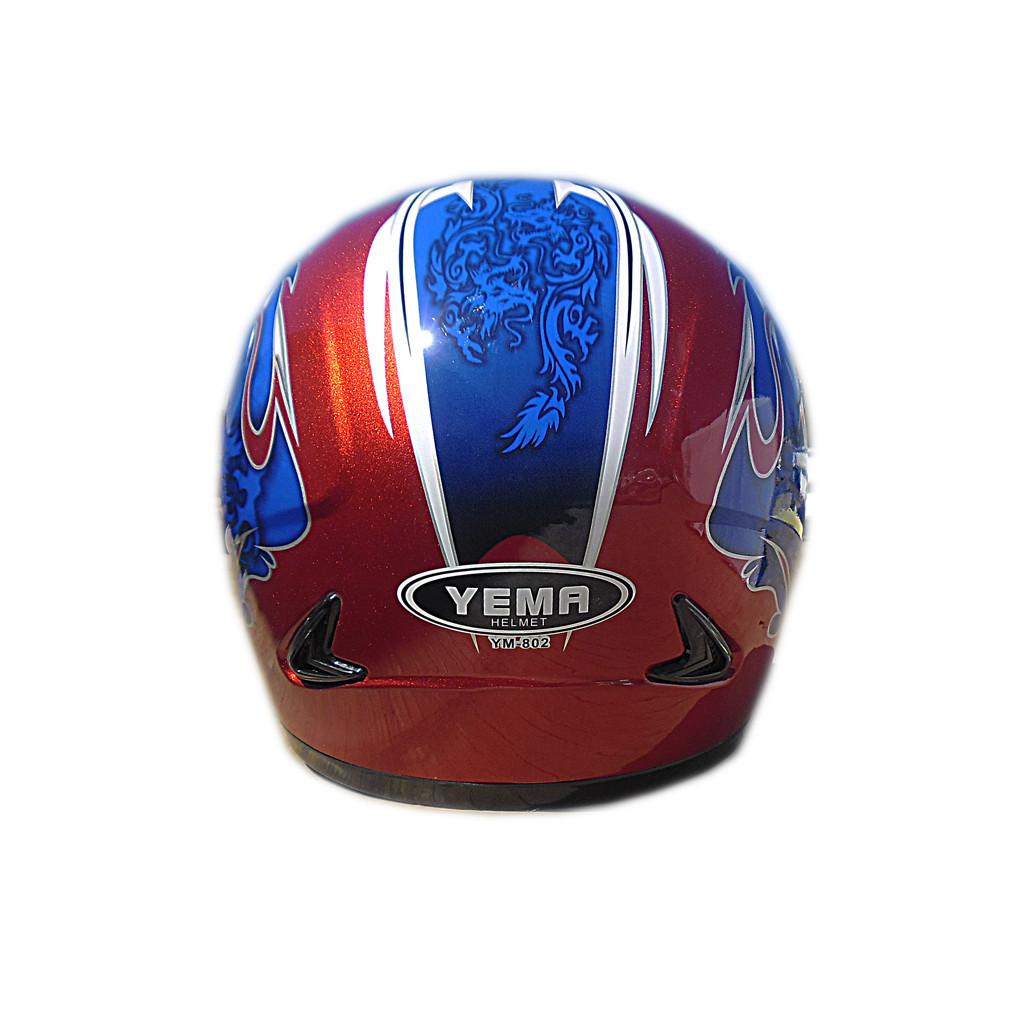 Мотошлем YM-802 красный (M)