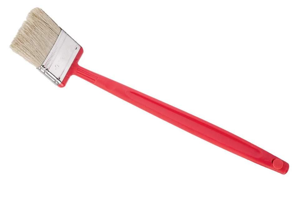 """Кисть плоская ЗУБР """"БСГ-52"""", удлиненная с быстросъемной головой, натуральная щетина, пластмассовая ручка, 63мм"""