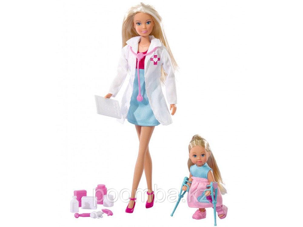 Кукла Штеффи-врач и Еви на костылях