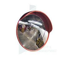 Дорожное сферическое зеркало с козырьком диаметром 600мм