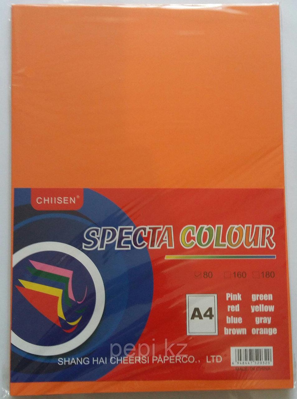 Бумага A4,80гр/100 л. оранжевый