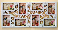 """Фоторамка """"Love & Family"""", на 8 фото, белая, фото 1"""