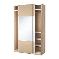 Гардероб ПАКС под беленый дуб Аули Ильсенг ИКЕА,  IKEA, фото 1